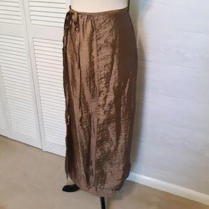 Free People metallic wrap maxi skirt sz 7 *M